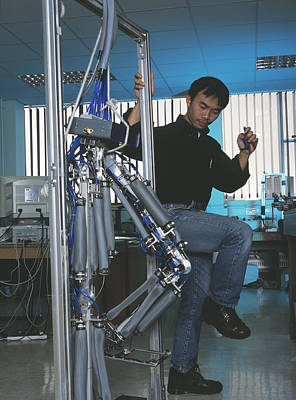 Copying Photograph - Robotic Legs by Volker Steger
