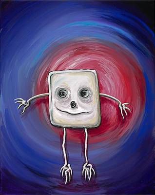 Painting - Robot's Birthday by David Junod