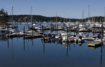 Roche Harbor Reflected Art Print