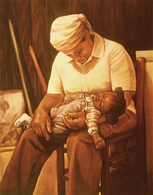 Artist Curtis James Pastel - Rock-a-bye Grandma I by Curtis James