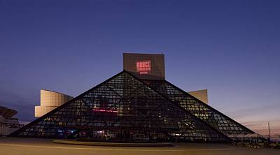 Rock And Roll Hall Of Fame Cleveland Art Print by Everett