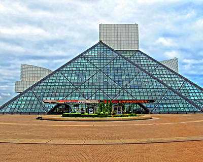 Rock And Roll Hall Of Fame Art Print by Dave Mills