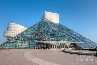 Rock And Roll Hall Of Fame II Art Print by Clarence Holmes