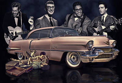 Bos Bos Digital Art - Rock And Roll Never Forgets by Rat Rod Studios