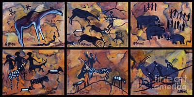 Rock Art Panels  Art Print