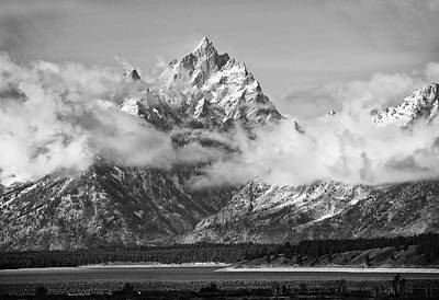Rock Chuck Peak   Jackson Lake Wyoming Art Print
