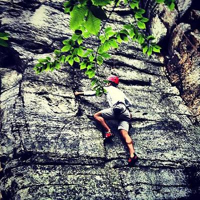 Celebrities Wall Art - Photograph - Rock Climbing At Peter's Kill by Arnab Mukherjee