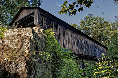 Photograph - Rock Creek Road Covered Bridge by At Lands End Photography