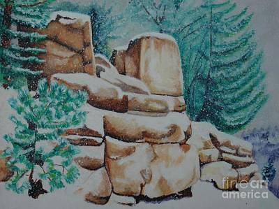 Painting - Rock Croppings Gvl Road by LJ Newlin