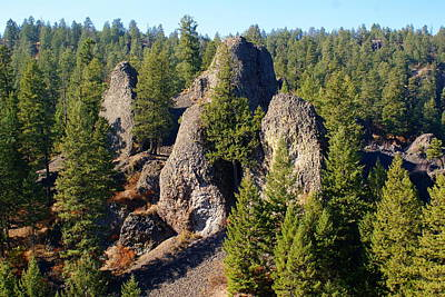Photograph - Rock Formations At Deep Creek Canyon by Ben Upham III