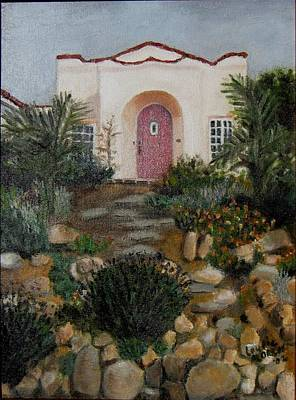 Painting - Rock Garden Adobe by Laurie Morgan