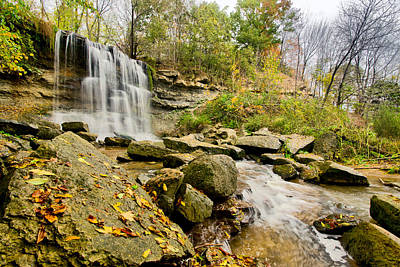 Hdr Landscape Photograph - Rock Glen Falls by Cale Best