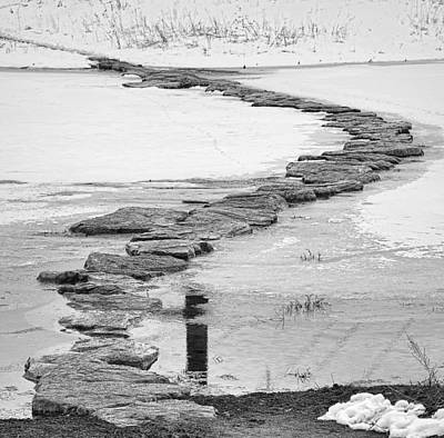Photograph - Rock Lake Crossing In Black And White  by James BO Insogna