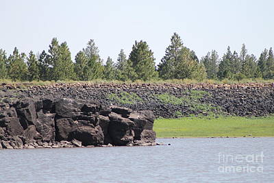 Photograph - Rock Ledge At Bunch Reservoir by Pamela Walrath