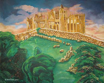 Rock Of Cashel-ireland Art Print by John Keaton