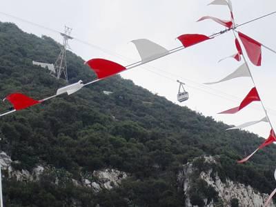 Photograph - Rock Of Gibraltar Cable Car Uk by John Shiron