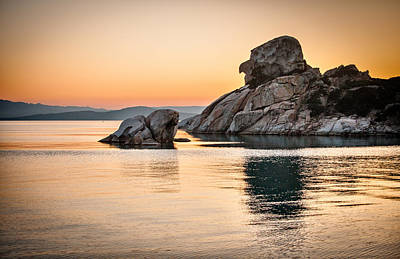 Maddalena Photograph - Rock Of The Witch At Dusk- La Maddalena Island by Stefano Oppo