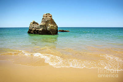 Algarve Wall Art - Photograph - Rock On Beach by Carlos Caetano