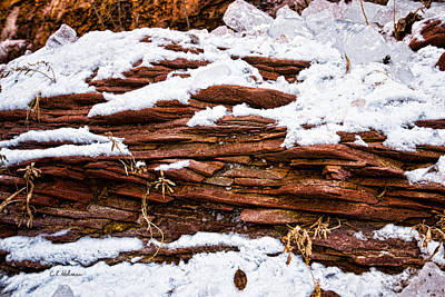 Photograph - Rock Sandwich With Snow Icing by Christopher Holmes