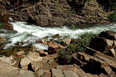 Striking Photograph - Rock Steps To Glen Alpine Creek by LeeAnn McLaneGoetz McLaneGoetzStudioLLCcom