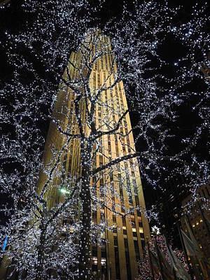 Rockefeller Center Christmas Art Print by David Halperin