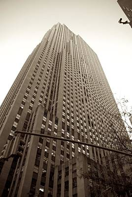 Photograph - Rockefeller Center In Sepia by Eric Tressler