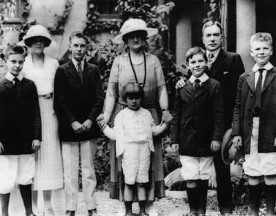 Rockefeller Family. From Left Laurance Art Print by Everett