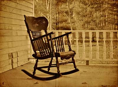Rocking Chairs Photograph - Rocker by Odd Jeppesen