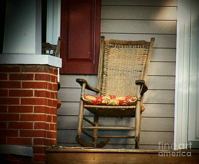 Rocking Chairs Photograph - Rocker On The Porch by Joyce Kimble Smith