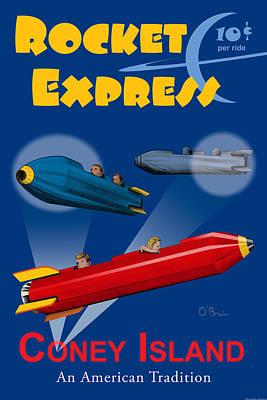 Rocket Express Art Print
