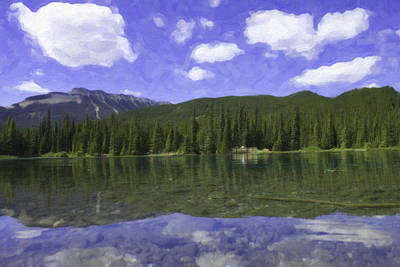 Photograph - Rockies And Blue Sky Paint by Donna L Munro