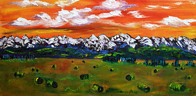 Rockies Painting - Rockies First Snow by James Bryron Love