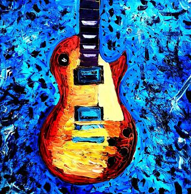 Painting - rockin the gibson les paul IIl by Neal Barbosa