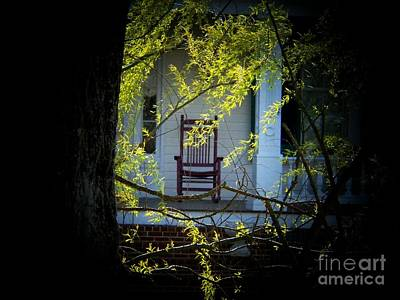 Rocking Chairs Photograph - Rocking Chair On The Porch by Joyce Kimble Smith