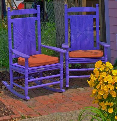 Art Print featuring the photograph Rocking Chairs Of Gloucester by Caroline Stella