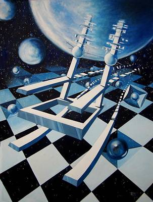 Painting - Rocking Into Space by Roger Calle