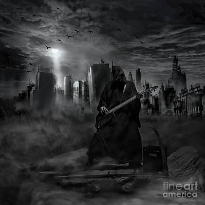 Reaper Digital Art - Rocking Reaper by Eugene James