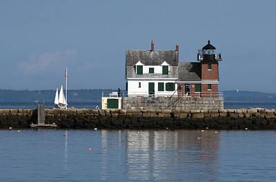 Photograph - Rockland Breakwater Lighthouse by Glenn Gordon