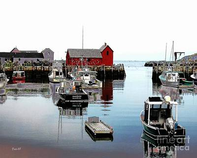 Digital Art - Rockport Harbor by Dale   Ford