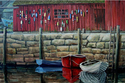 Painting - Rockport Harbor by Michael Cranford