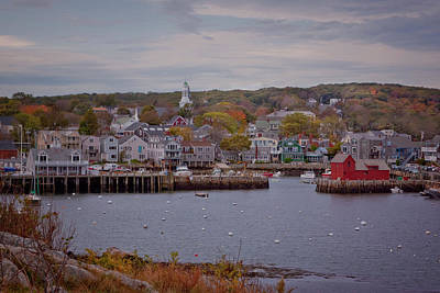Print featuring the photograph Rockport Harbor by Tom Singleton