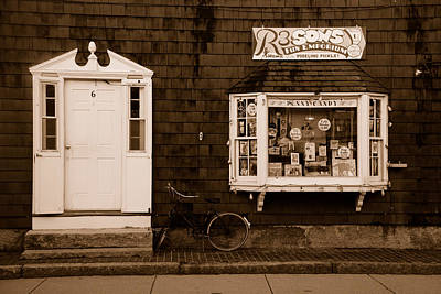 Photograph - Rockport Massachusetts Storefront by Richard Bryce and Family