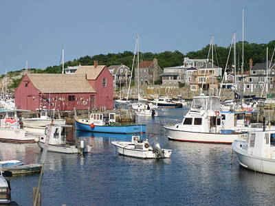 Photograph - Rockport Motif by Melissa Partridge