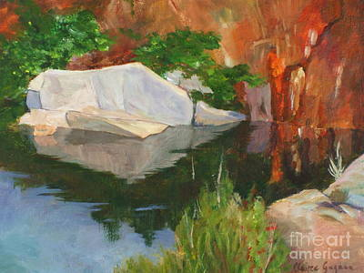 Painting - Rockport Quarry Reflection by Claire Gagnon
