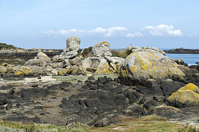 Photograph - Rocks At Low Tide Iles Chausey by Gary Eason