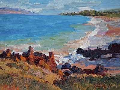 Rocks At Maui Beach Art Print