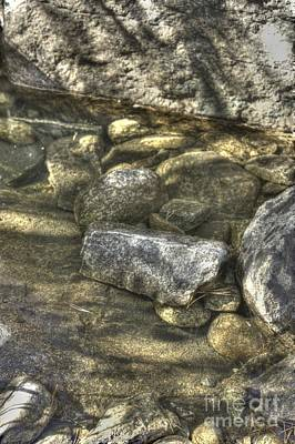 Photograph - Rocks In The Stream by David Bearden
