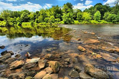 Photograph - Rocks In The Youghiogheny by Adam Jewell