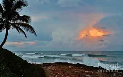 Lynda Dawson-youngclaus Photograph - Rocks Sunset Glow by Lynda Dawson-Youngclaus
