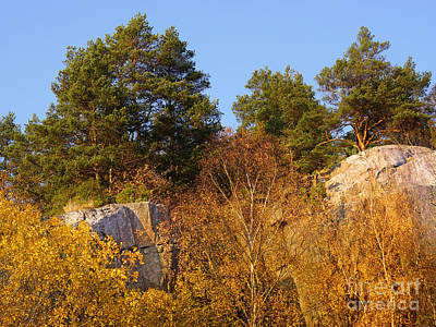 Rocky Autumn Sun Art Print